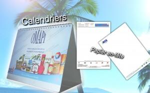 calendrier & Papier en tête